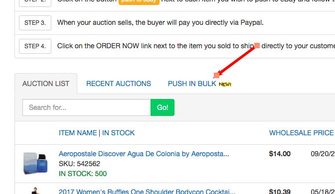 push items to eBay in bulk