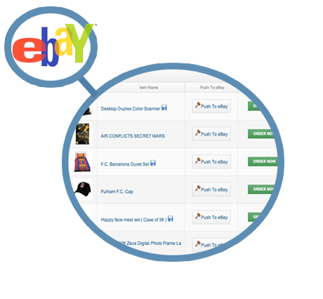 use wholesale2b eBay listing tool to push dropship products to eBay