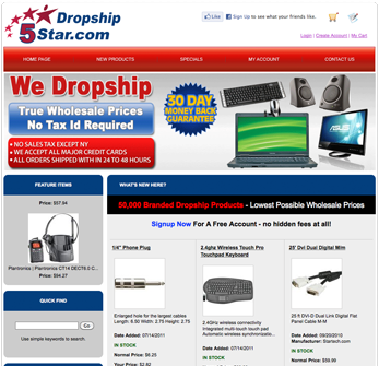 Dropshipper website