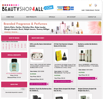 Get your own Fragrance Dropship Website pre-loaded with