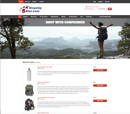 your own drop shipping website