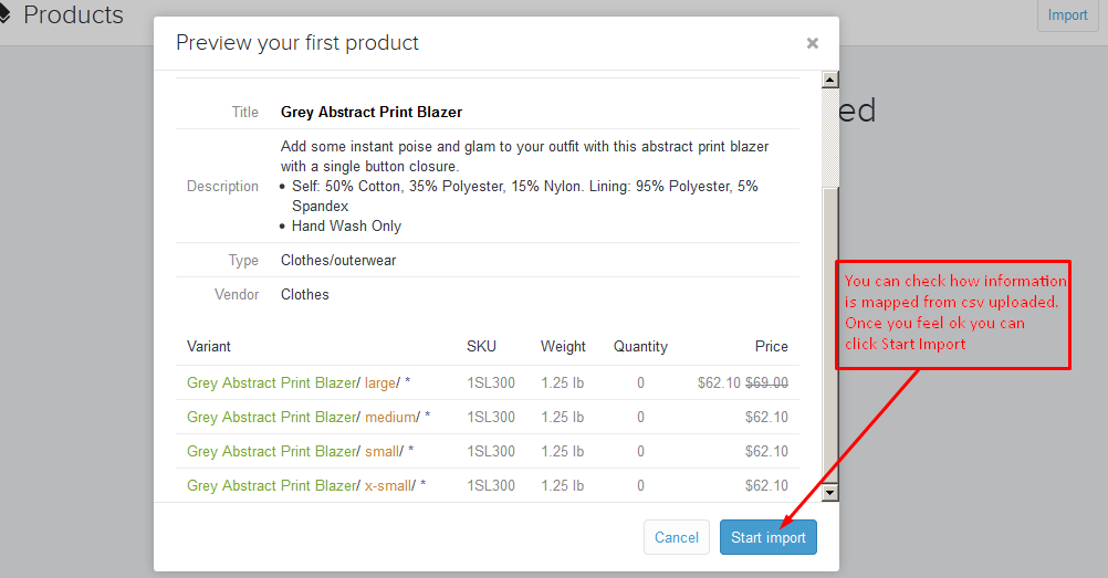 STEP BY STEP INSTRUCTIONS TO IMPORT TO SHOPIFYCOM - Shopify csv template